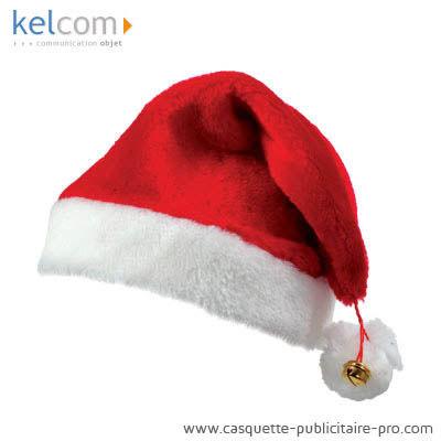 casquette personnalisee , Bonnet Père Noël publicitaire