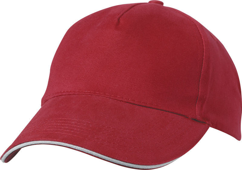 casquette broderie Rouge