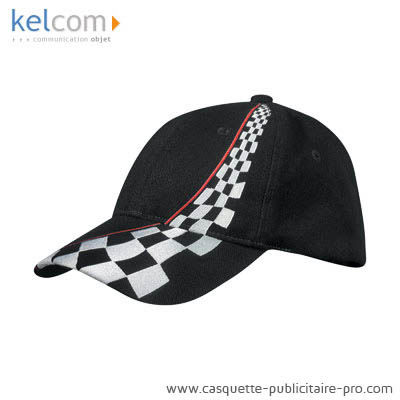 Casquettes style racing - casquette personnalisee