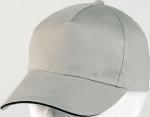 gris - casquette broderie