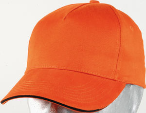 orange - casquette broderie