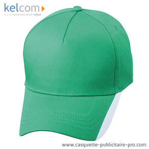 vert kelly-blanc - Casquette rayures publicitaire