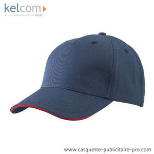 marine-rouge - Casquette Sandwich promotionnel