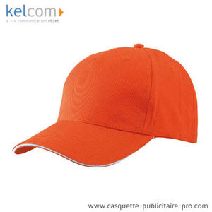 orange-blanc - Casquette Sandwich promotionnel