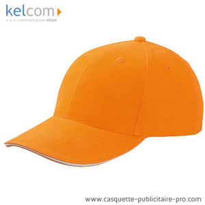 orange-blanc - Casquette Sandwich pub